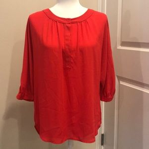 GLAM Gathered at Collar with Button Closure Sz S